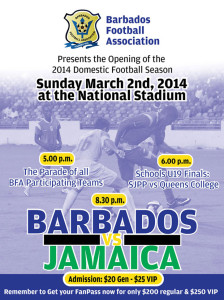 Football - Barbados vs Jamaica