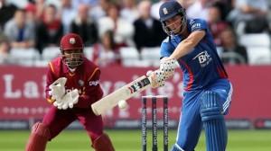 England's Alex Hales bats during the NatWest International T20 match at Trent Bridge, Nottingham.